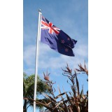 FP-05 Flagpole 4.9m (16Ft) + FREE NZ Flag + BONUS Flag